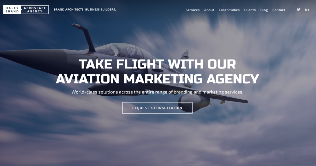 Website photo for Haley Brand Aerospace Agency